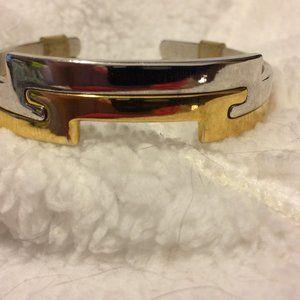 """Avon """"Counterparts"""" Interlocking Silver'Gold Cuffs"""